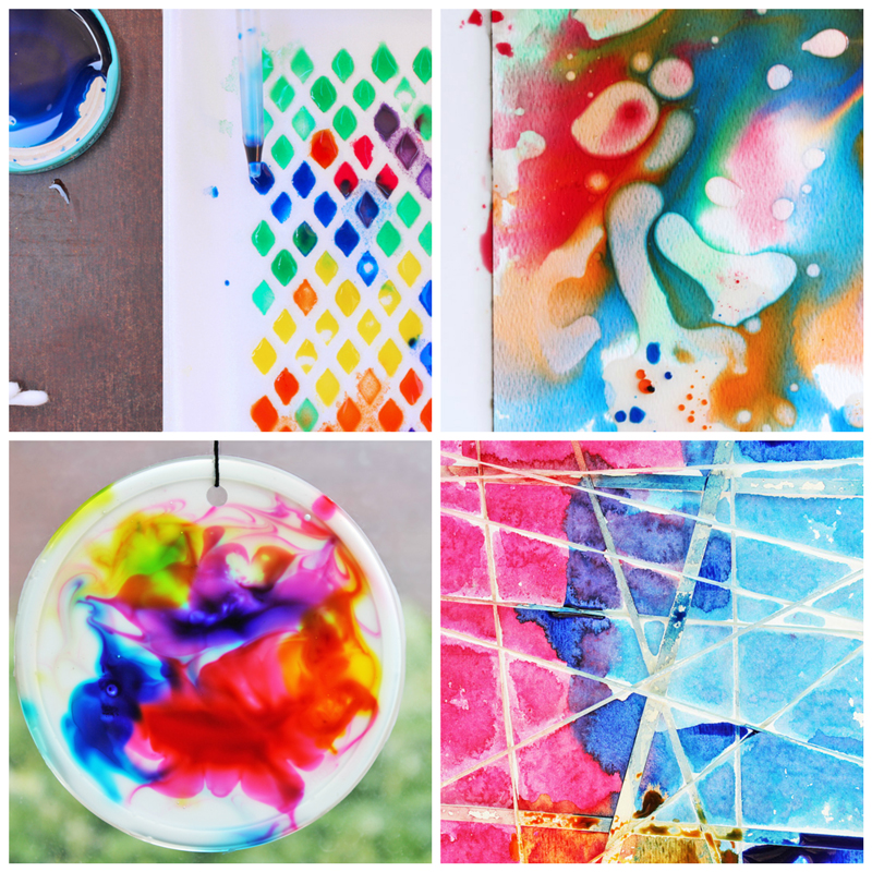 12 easy art ideas for kids plus a fun way to choose them for Painting craft projects