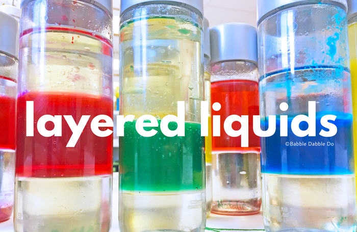"The classic science experiment Layered Liquids is sure to delight kids! The premise is simple, heavy liquids sink and lighter ones float, and you can magically ""layer"" them.  ."
