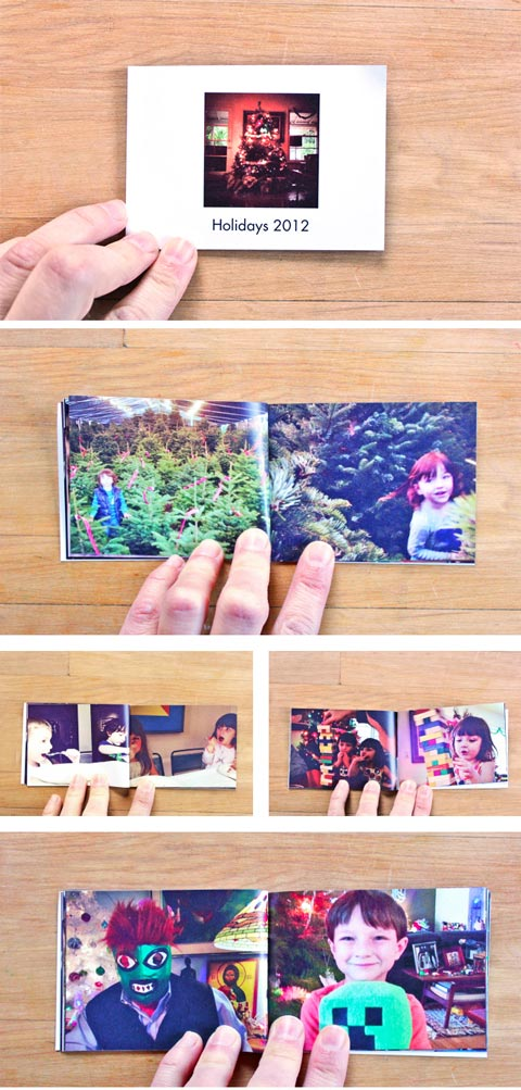 Make a mini photo book with your instagram photos. Great gift for family members!