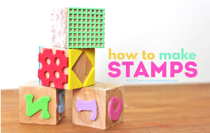 Learn how to make a stamp using fun foam and a wood blocks.