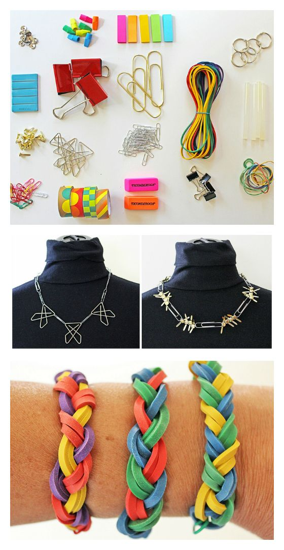 diy office supplies. Make Jewelry From Office Supplies! Diy Supplies
