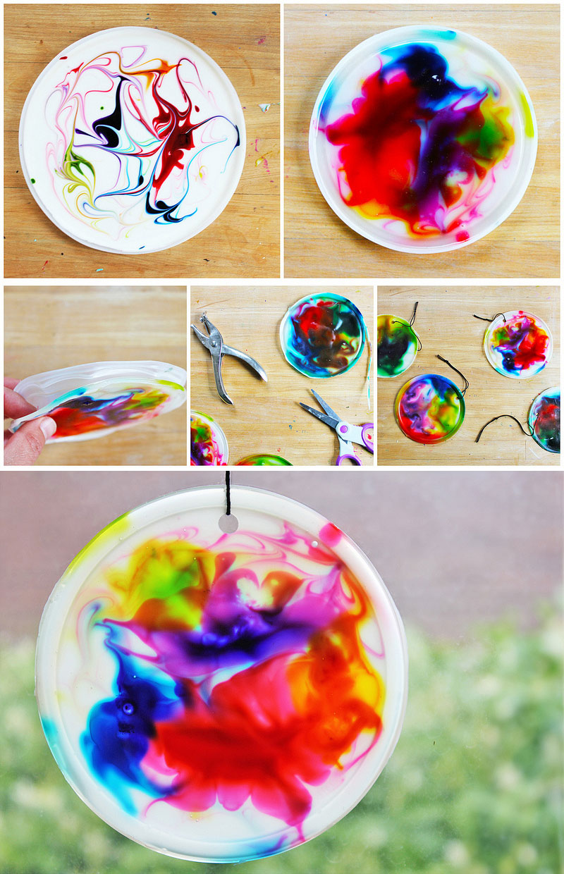 Art for kids cosmic suncatchers babble dabble do for Food crafts for preschoolers