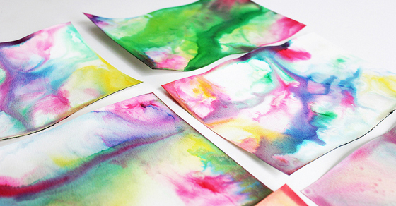 Science & Art for Kids: Marbled Milk Paper