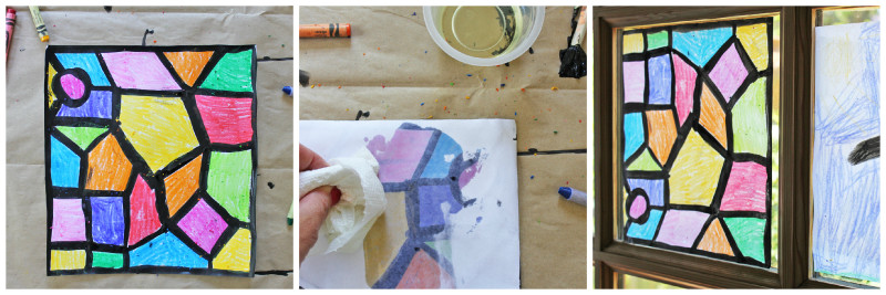 Faux Stained Glass Process Collage | BABBLE DABBLE DO