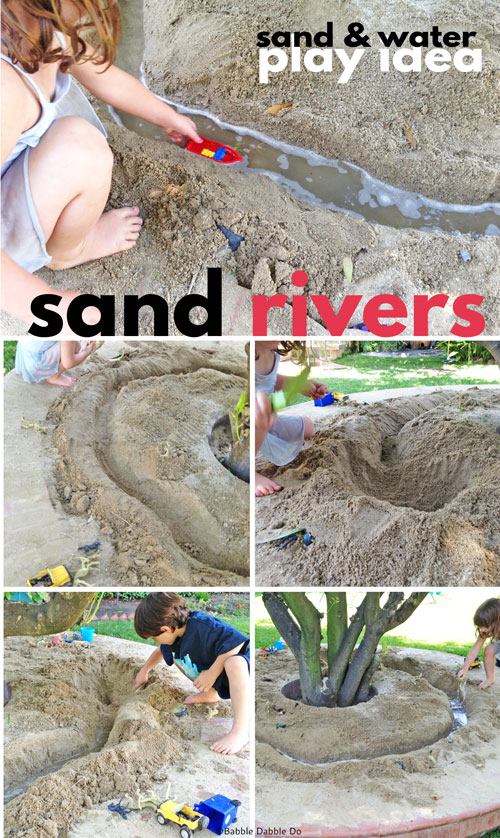 Sand Rivers are a go-to sand and water play idea on the hottest of summer afternoons! BONUS: This activity covers so many STEAM concepts!