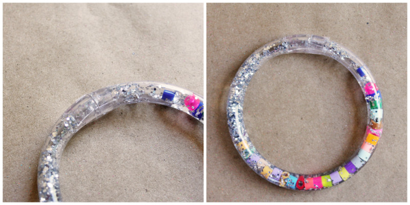 Totally Tubular Glitter Bracelet Steps Collage | BABBLE DABBLE DO