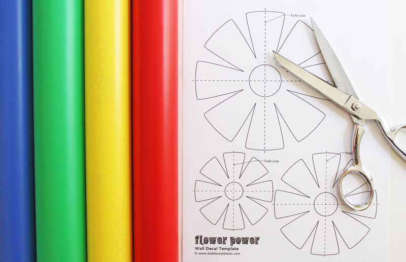 Flower-Power-Wall-Decals--materials-BABBLE-DABBLE-DO
