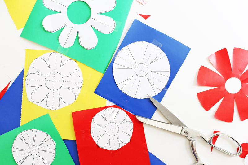 Flower-Power-Wall-Decals-taping-2-BABBLE-DABBLE-DO