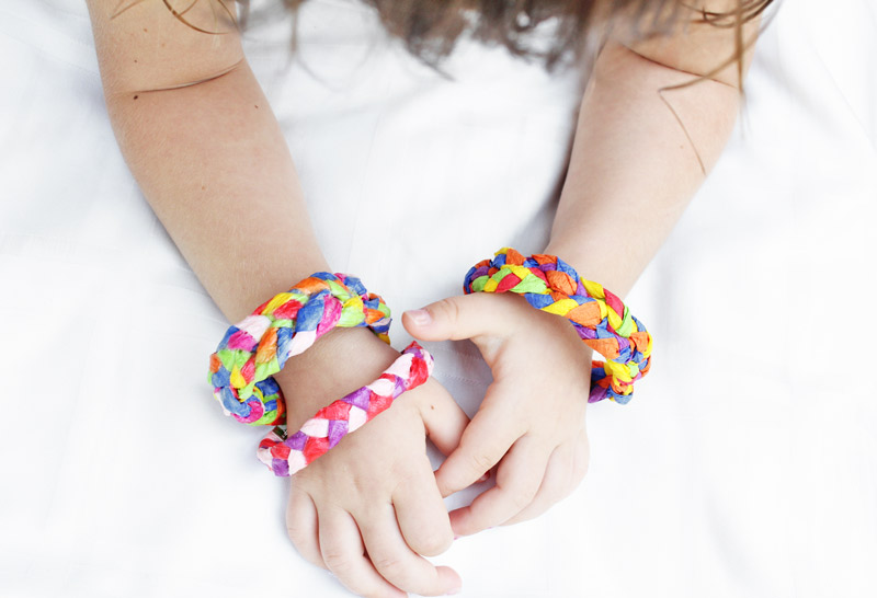 Design For Kids Crepe Paper Bracelets Babble Dabble Do