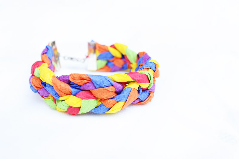 Fun Paper Craft For Kids And Adults Learn How To Make Bracelets Using Leftover Crepe