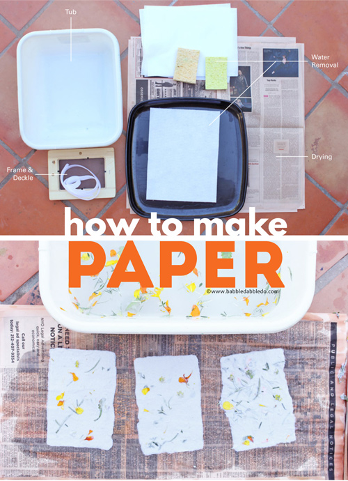 Learn how to make paper with this step-by-step tutorial featuring easily available materials.
