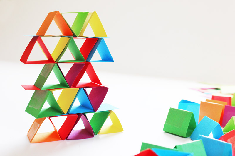 Science for Kids Paper Building Blocks