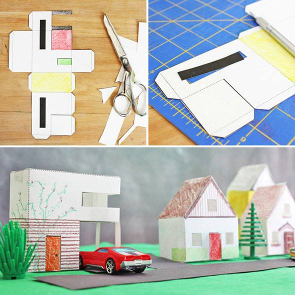 Fun Paper Craft For Kids 3 Templates PAPER HOUSES You Can Print Cut