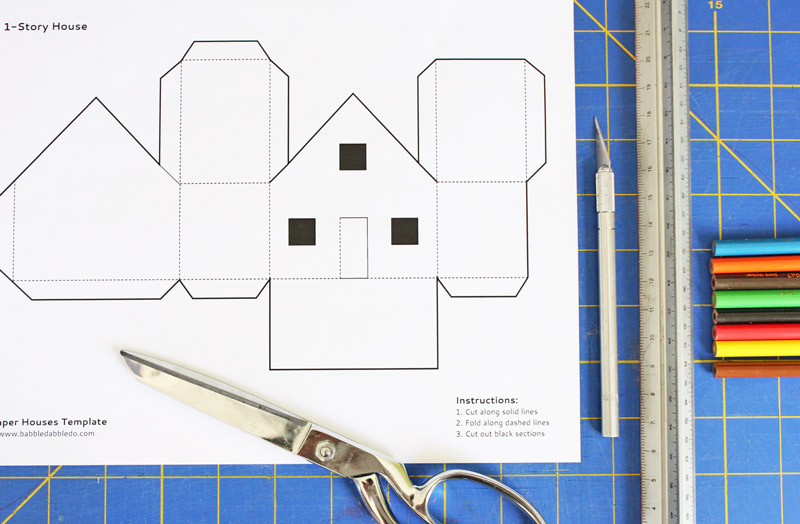 Fun Paper Craft For Kids 3 Templates Houses You Can Print Cut