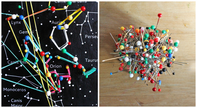 Astronomy project for kids: Make a simple constellation geoboard.
