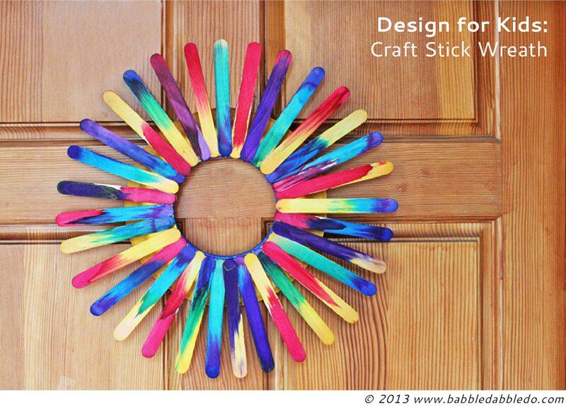 DIY Craft Stick Wreath