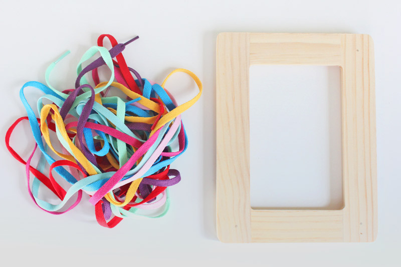 Fine Motor Skills Activity: Frame Lacers - Babble Dabble Do