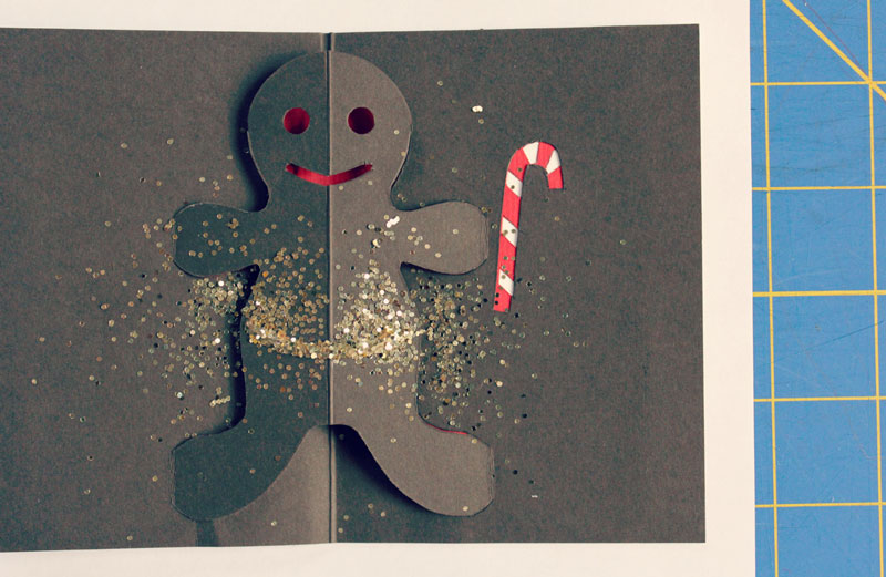 This pop up cards tutorial includes a template for making your very own gingerbread man card to share with friends and family.