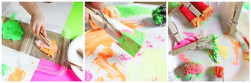 STEAM Challenge For Kids: Make DIY Paint Brushes