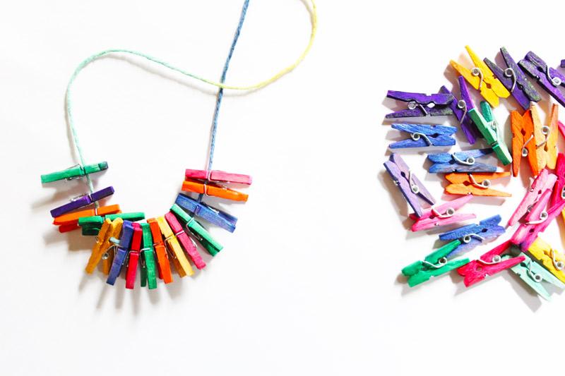 Mini Clothespin Necklaces