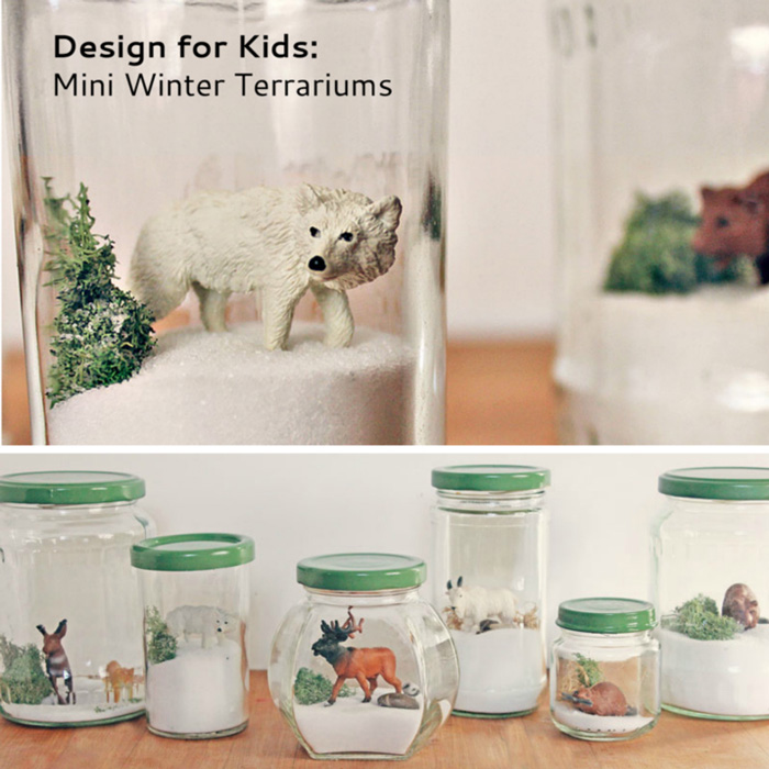 Winter Craft for Kids: Mini Winter Terrariums for Kids