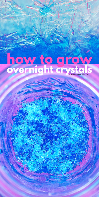 Learn how to grow salt crystals overnight in the refrigerator! Great project for the science fair.