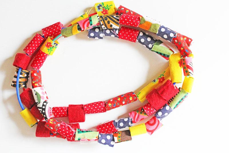 fabric beads