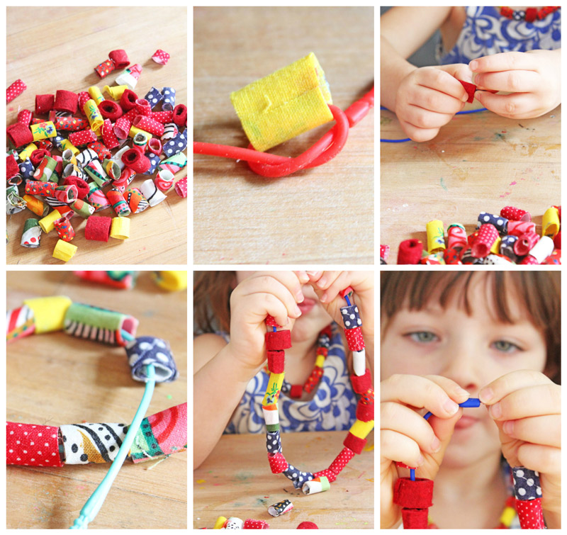 Design for Kids: How to Make Fabric Beads - Babble Dabble Do