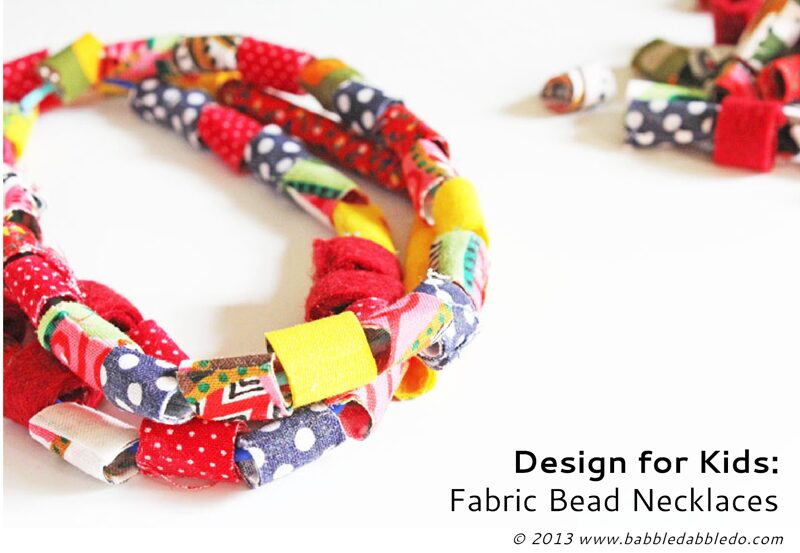 How to make fabric beads with a simple shortcut!