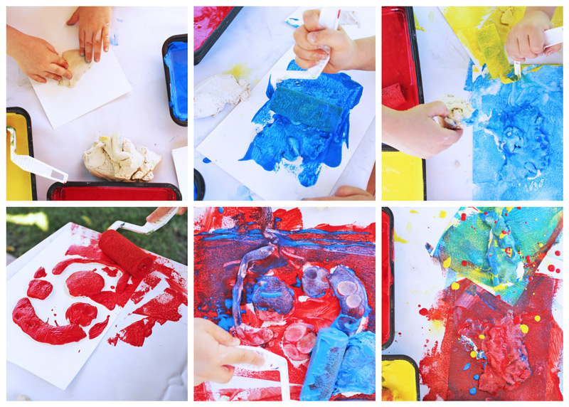 Easy Art Projects For Kids Clay Resist Combination Of Sensory Play And