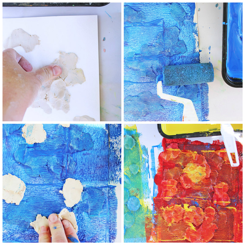 Easy Art Projects For Kids Clay Resist Babble Dabble Do
