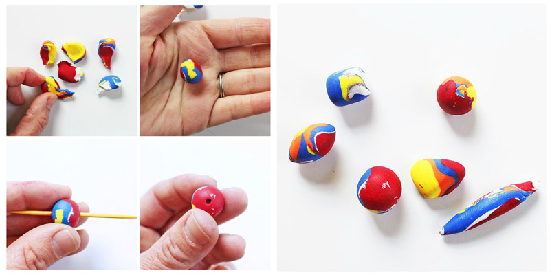 How to make polymer clay beads babble dabble do polymer clay beads aloadofball Image collections