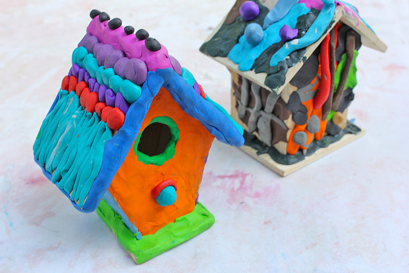 Clay Craft Ideas For Kids Part - 19: Art Projects For Kids: Use Colored Clay To Decorate Inexpensive Wood  Birdhouses!