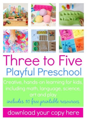 3 to 5 Playful Preschool e-book