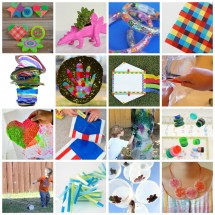 16 Plastic Crafts for Kids Round-Up