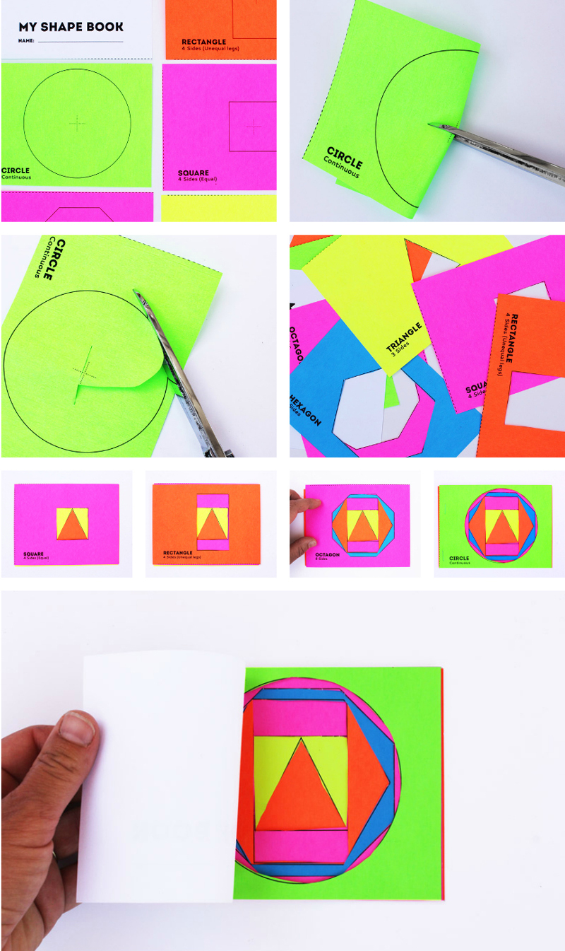 Math Book Art: My Shape Book (Shape Activities for Kids)