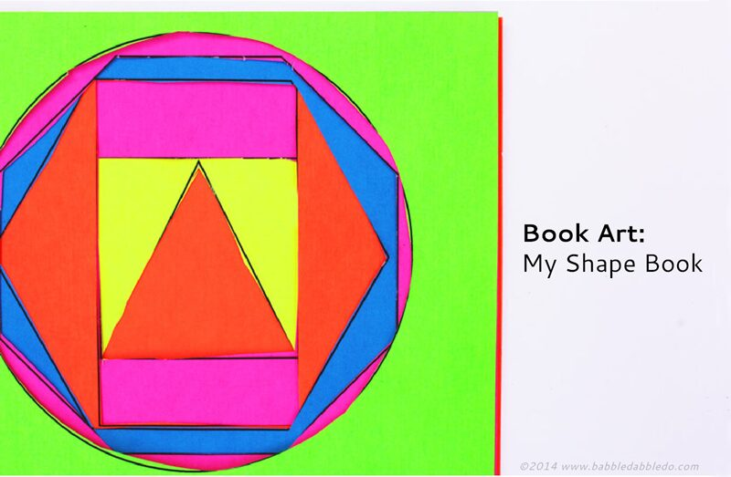 Shape Activities for Kids: My Shape Book | Download our free template and make your very own shape book. Doubles as op art too!