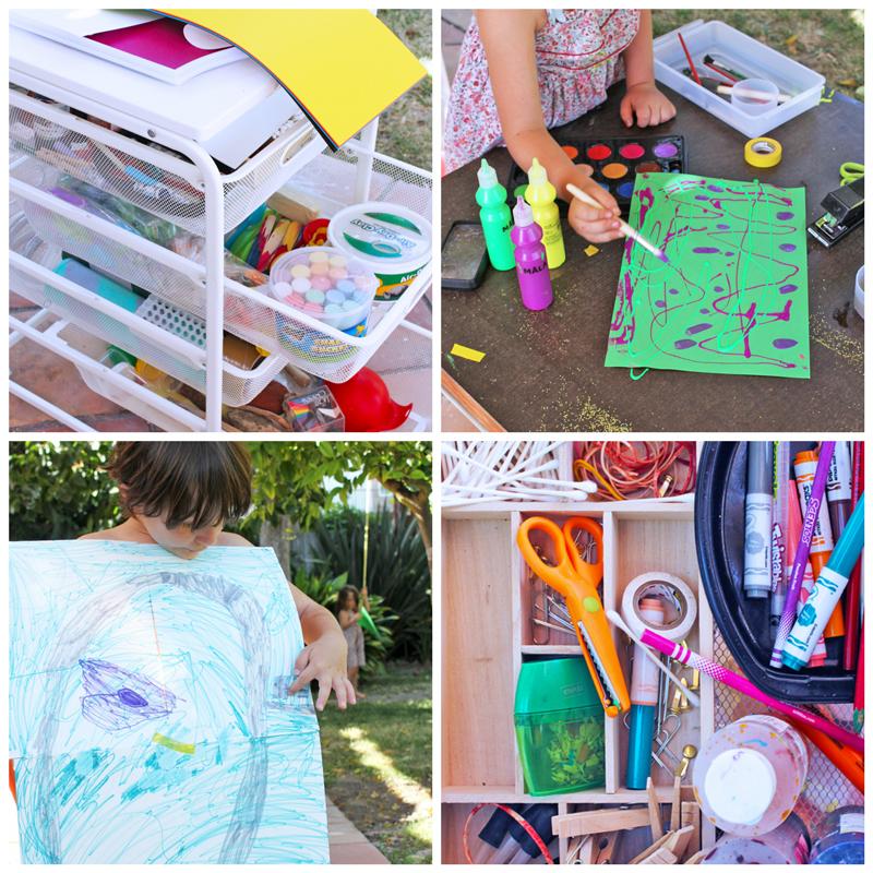 Indoor/Outdoor Art Cart Inspired by Tinkerlab Book