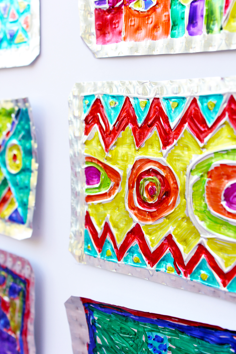 Folk Art Project for Kids: Hojalata (Tin) Art. Explore this Mexican style of folk art that emphasizes a creative use of unique materials.