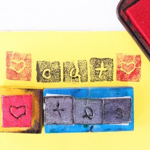 Design for kids: Make a DIY stamp out of recycled materials