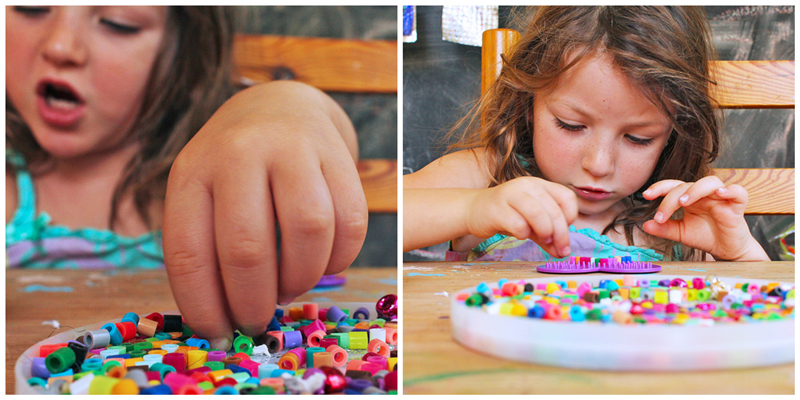 Make mini bookmarks out of Perler Beads