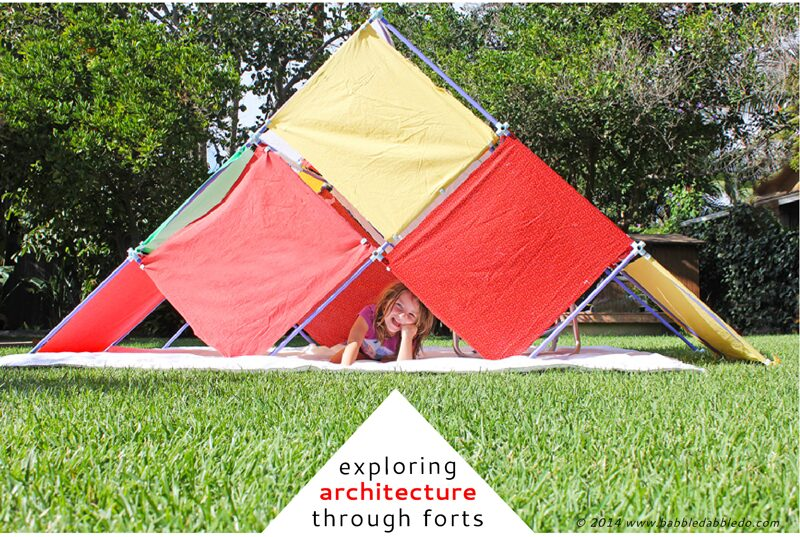 Explore architecture with kids by building forts and the Fort Magic Building Kit