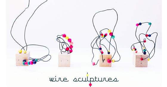 Easy Art for Kids: Wire Sculpture - Babble Dabble Do