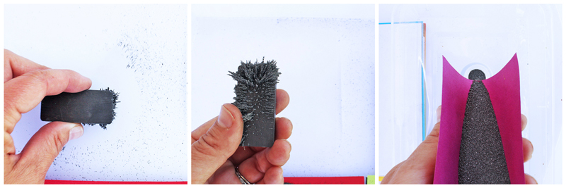 Explore magnetism through art using iron filings and magnetic sheets |BABBLE DABBLE DO