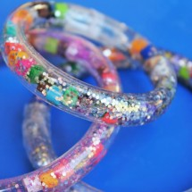 Science and Fashion for Kids: Totally Tubular Glitter Bracelets