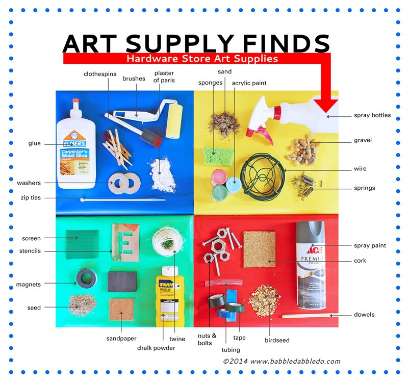 30+ Art Supplies from the Hardware Store