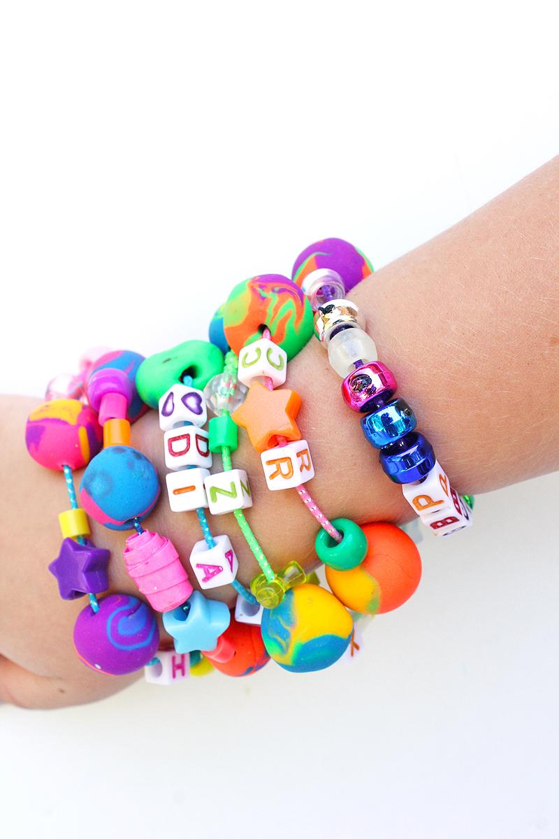 Back To School Craft Eraser Bead Bracelets
