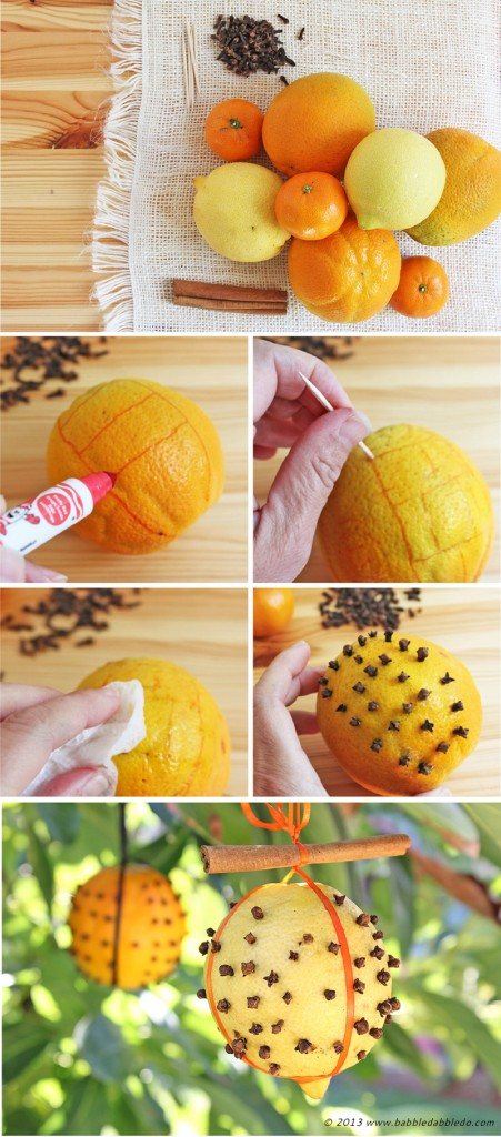 Learn how to make fall/winter pomanders for a breath of citrusy fresh air!