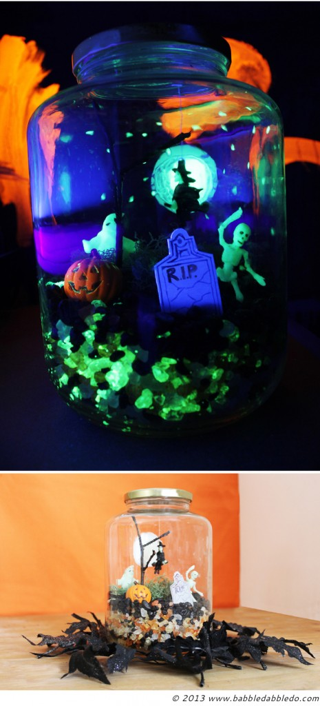 Halloween Crafts for Kids: Make a Glow in the Dark Terror-arium
