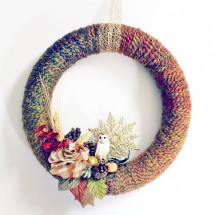 DIY Wreath:  Fall Yarn Wreath Tutorial